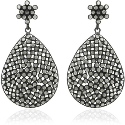 SuvidhaArts Fusion Fashion Cubic Zirconia Brass Drop Earring