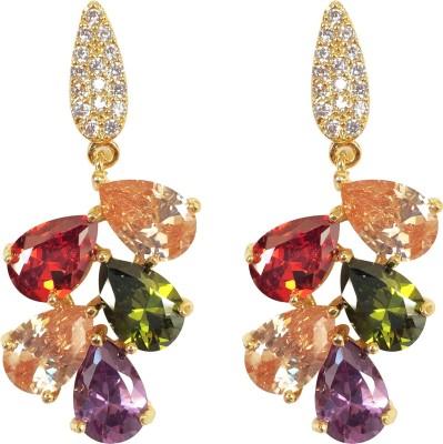 KooKoo Fashion Multicolor Spark Zircon Copper Drop Earring