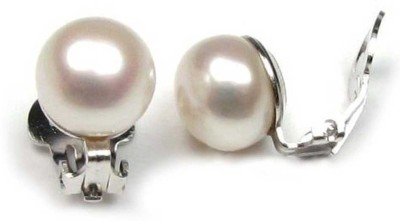 Trendy Nuts Charming Pearls Pearl Alloy Stick-on Earring