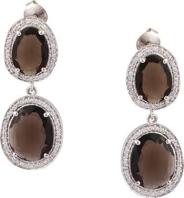 RR FOREVER Gemstone Swarovski Crystal Silver Drop Earring