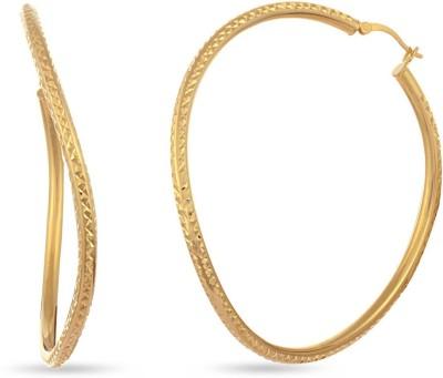 LeCalla Striking Deal Hoop Earrings Sterling Silver Hoop Earring