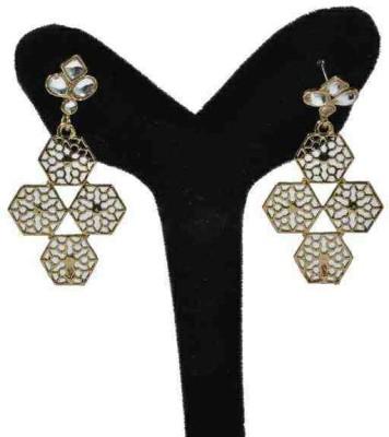 Arohi Jewells & Gems AJG1 Copper Earring Set