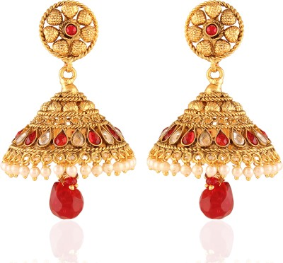 AccessHer Fashionable Cubic Zirconia Copper Jhumki Earring