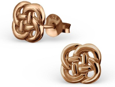Maayin Celtic Knot - Rose Gold Silver Stud Earring
