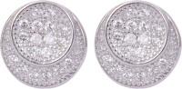 Abhooshan Sparkle wind Cubic Zirconia Sterling Silver Stud Earring