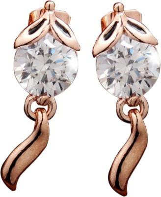Allure Cubic Zirconia Bronze Stud Earring
