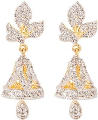 Voylla Precious Classic Glossy Cubic Zirconia Sterling Silver Jhumki Earring