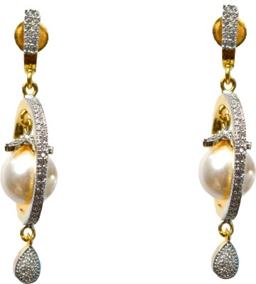 JDJ Imitation Jewelleris ROUND EARING Cubic Zirconia Brass Earring Set