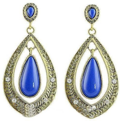 Fashionography The Blue Danglers Alloy Drop Earring
