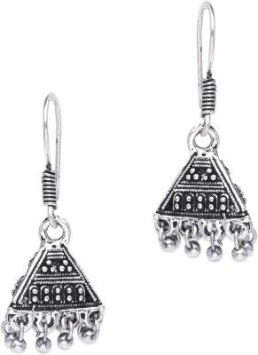 Supriya Silver White Metal Jhumki Earring