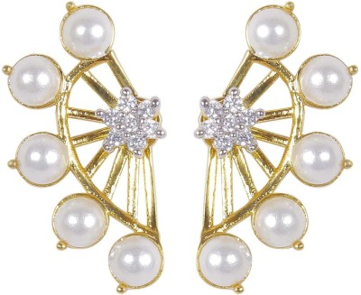 Vanshika Jewels Party Wear Pearl Studded Alloy Cuff Earring
