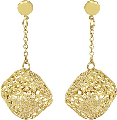 Sparkling Drop Spring Sparkle Stainless Steel Drop Earring
