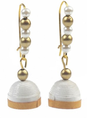 Rivory Bros Sparkle Quilled White Metal Dangle Earring