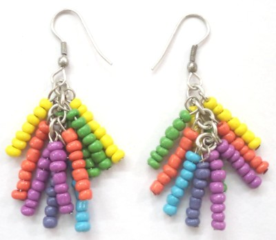 Village Handicrafts VHE Glass, Metal Dangle Earring