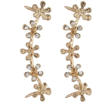 Fayon Daily Casual Work Small Golden Flowers Earcuff For Both Ear Alloy Clip-on Earring