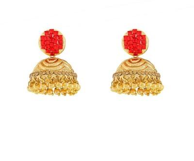 Art Nouveau Traditional Plated Beautiful Brass Jhumki Earring