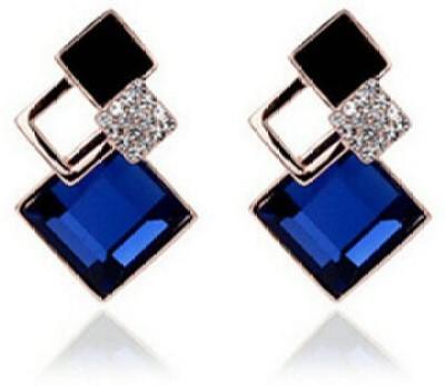 Kundaan Kundaan Luxury Geometric Crystal Alloy Stud Earring