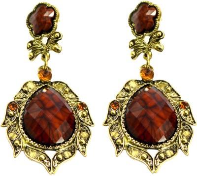 Krishna Mart A Pair Of Ethnic Design Hippie Danglers Earrings Brass Dangle Earring