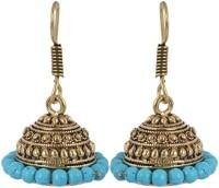 Waama Jewels Golden Brass Jhumki Earrings best for womens girls Womens Metal Jhumki Earring