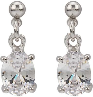 Vaishnavi heavy rhodium coated with shining cubic zirconia Copper Drop Earring