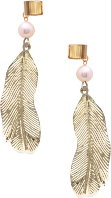 Sankisho Gold Wingpearl Metal, Alloy Cuff Earring