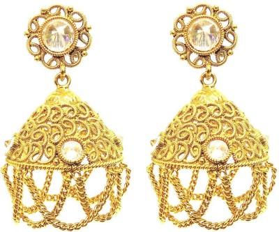Satyam Jewellery Nx Antique Gold Plated Women Jewellery Pearl Copper Drop Earring