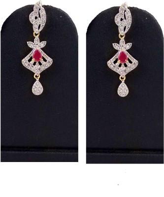 Hotpiper Elegant AD Zircon, Ruby Alloy Chandelier Earring