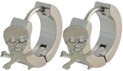 Men Style Skull Inspired Stainless Steel Hoop Earring