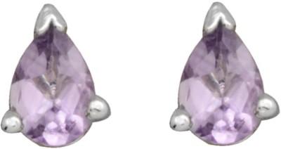 YugshaJewels Elegant YJE-1667 Amethyst Sterling Silver Stud Earring