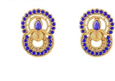 Art Nouveau Antique Designer Brass Drop Earring