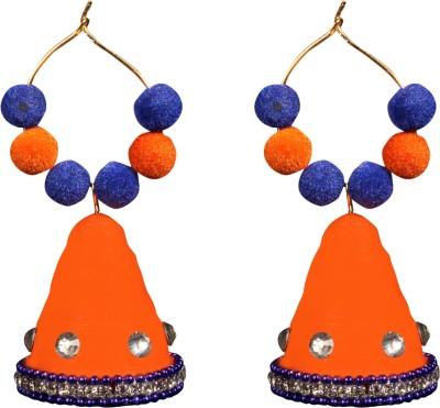Scion Orange Masti Quilling Paper Jhumki Earring