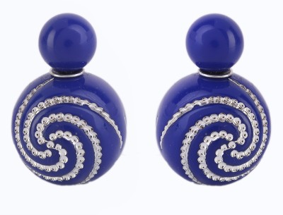 Jewel Touch Crystal Shine Spiral Design Alloy Plug Earring