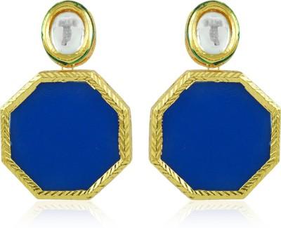 BoBell Indo-Westo Hexagon Copper Drop Earring