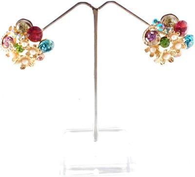 Divitha Allure multicolored stud. Alloy Stud Earring