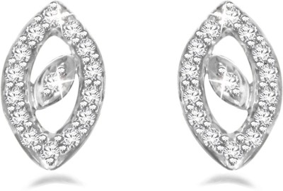Sparkles Leaf Diamond Yellow Gold 18kt Diamond Stud Earring
