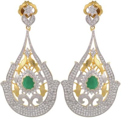 Parshwa Jewellery Changeble Stone Brass Drop Earring