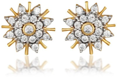 Kashvi Designer Cubic Zirconia Brass Stud Earring