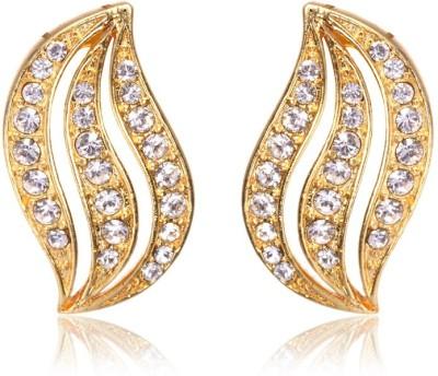 Eclat 1011168G Swarovski Crystal Alloy, Brass Stud Earring