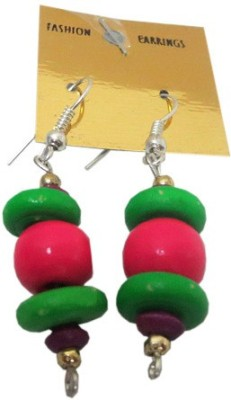 DCS Multibeads Wood Drop Earring