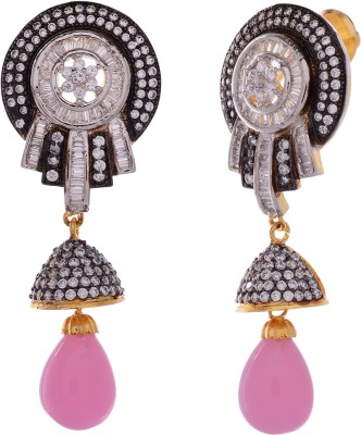 Gehnamart EAR-198 Pearl Alloy Chandelier Earring