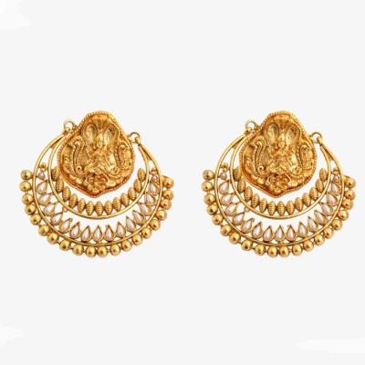 Jwells & More Dazzling Alloy Chandbali Earring