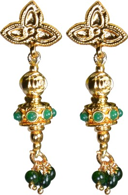 Pearl Paradise Traditional Design Crystal Alloy Drop Earring