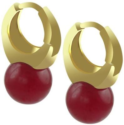 SuperShine jewelry Sparkle Brass Huggie Earring
