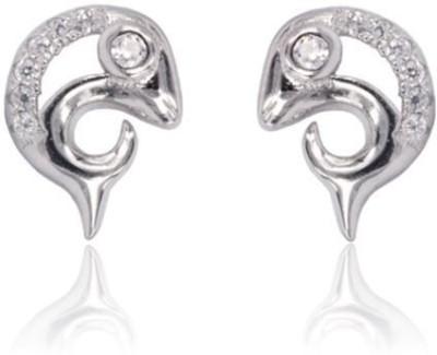 Eve's Wardrobe Dolphin Zircon Brass Stud Earring