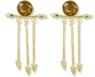 Zaveri Pearls Stylish Topaz Look Brass Tassel Earring