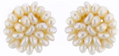 JPearls Jasmine Pearl Alloy Stud Earring