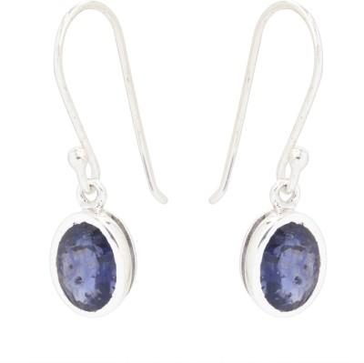 Kashvi Purple Spark Quartz Silver Dangle Earring
