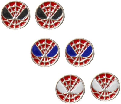 Rich & Famous Spiderman Inspired Combo set Alloy Stud Earring