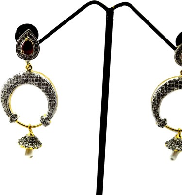 Bharat Sales Pretty And Latest Fashion In Some Pink Cubic Zirconia Alloy Earring Set