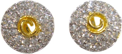 Paridhi Jewels Round earrings Cubic Zirconia Alloy Stud Earring